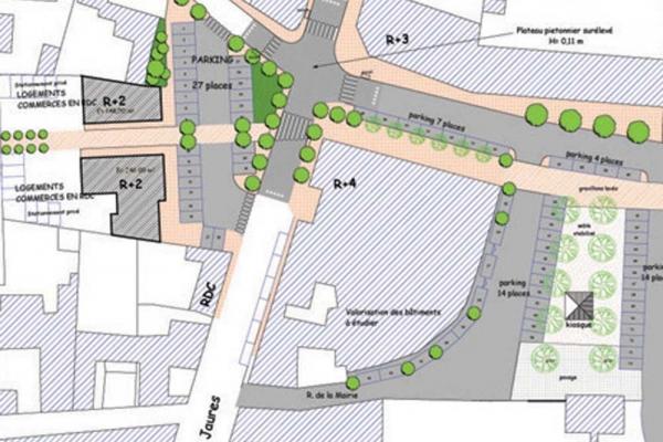 Aménagement du centre ville d'Aureilhan